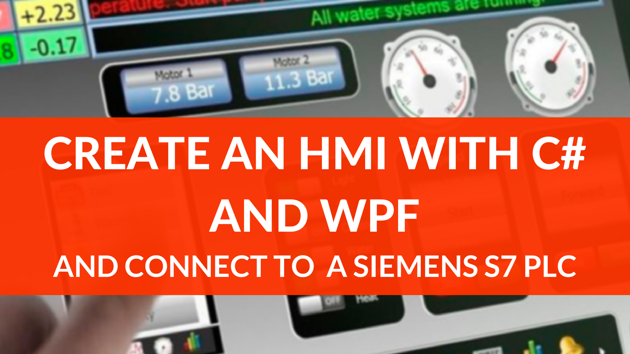 HMI with C# and WPF part 1: getting started with MVVM and plc