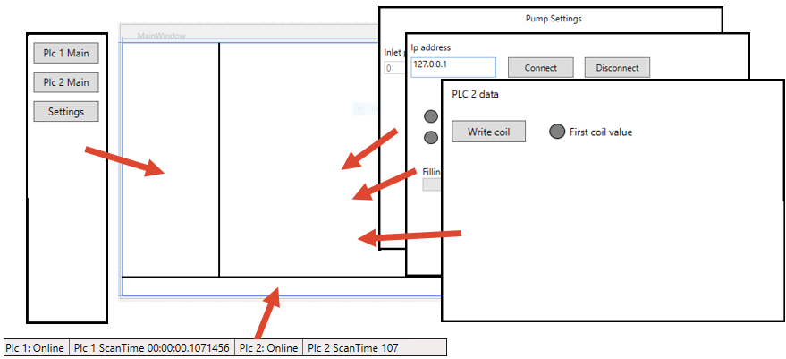 HMI with C# and WPF part 3: Communicating with multiple plc