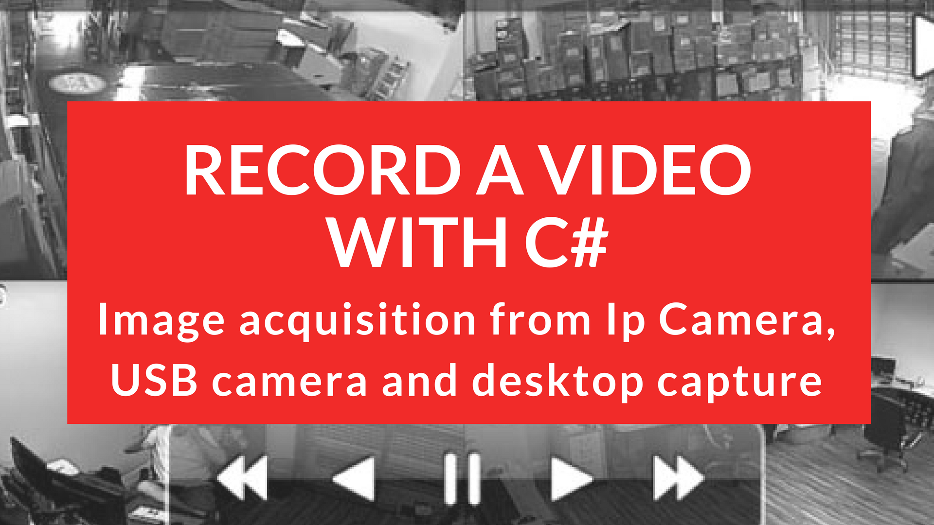 How to record a video with C# – WPF and AForge – Mesta